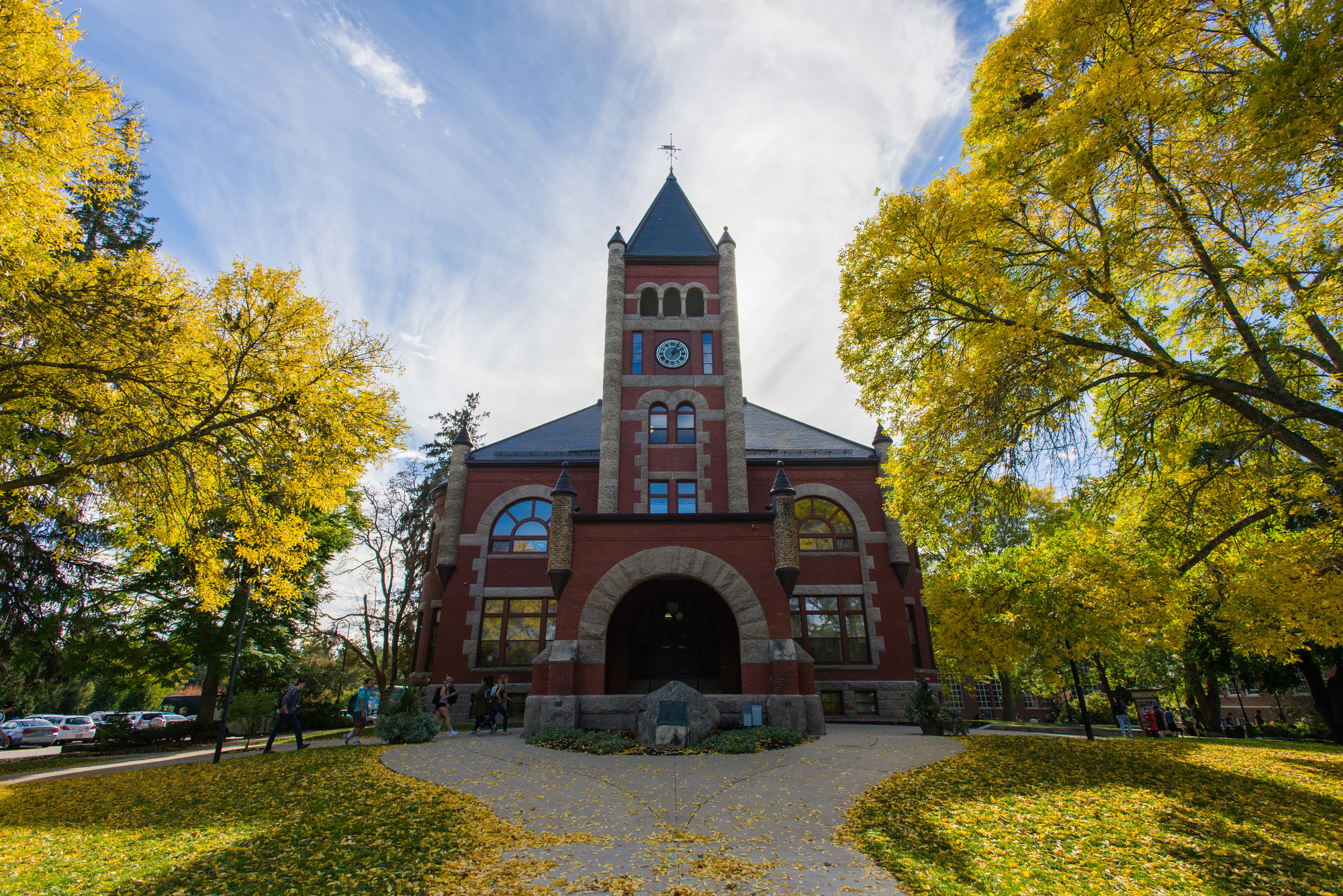 Thompson Hall in the fall