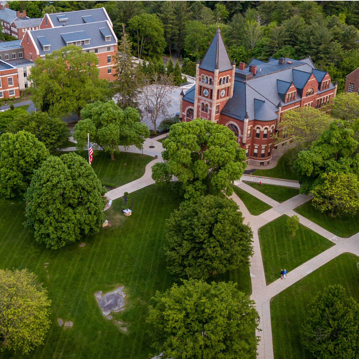 Aerial shot of UNH Durham campus