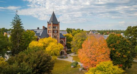 unh durham campus in the fall