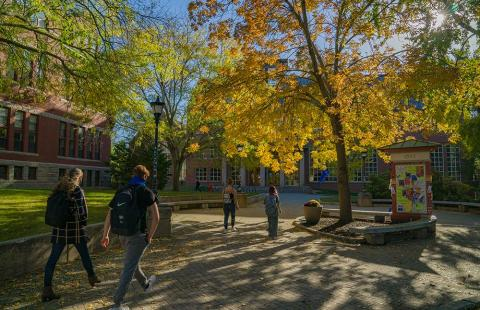 UNH campus in fall