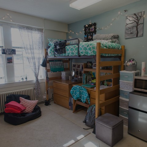 unh dorm room interior