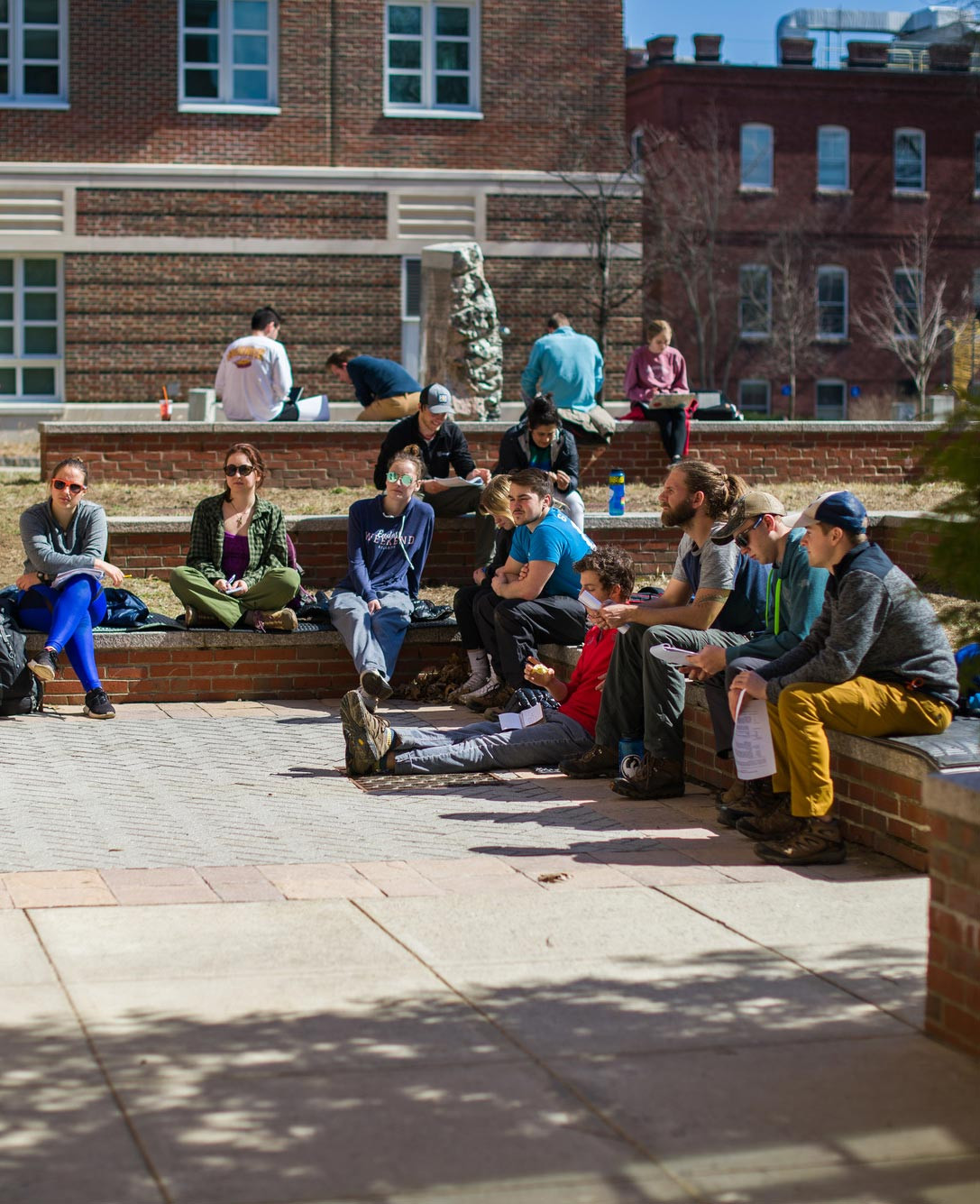 Group on campus